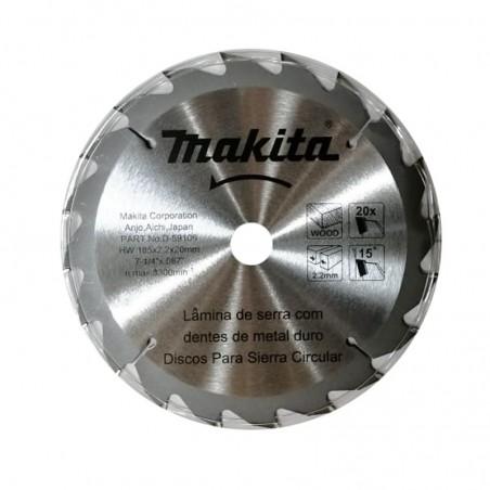"DISCO SIERRA 7.1/4"" X 20 TPI  P/MADERA MAKITA D-59106"